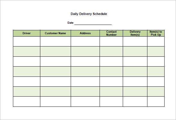 Schedule Format Template printable schedule template