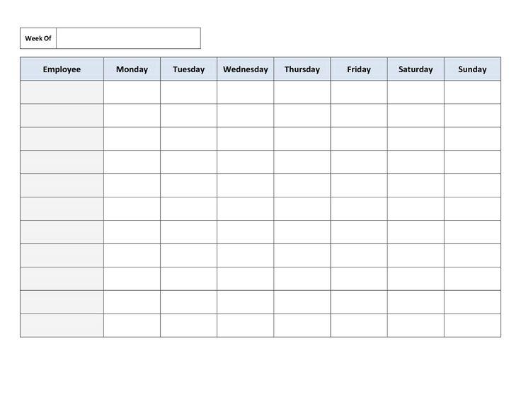 Schedule Template Printable printable schedule template