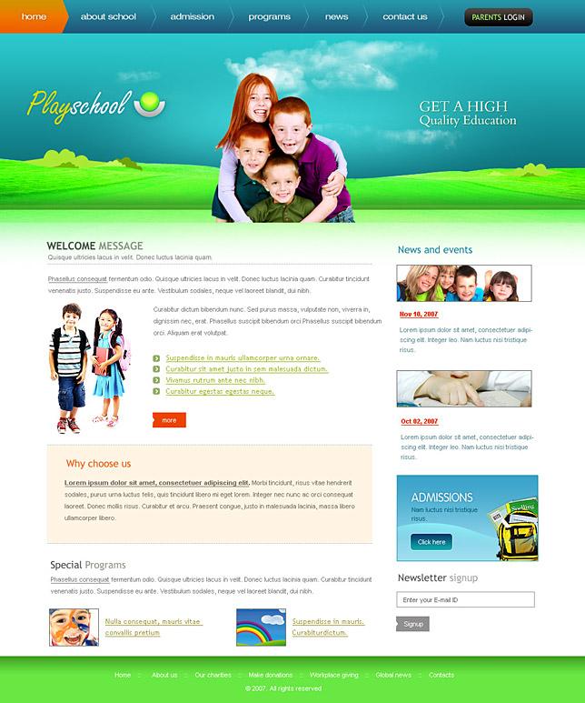 Template For School Website printable schedule template