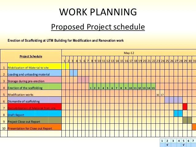 Work Schedule Format For Project printable schedule template