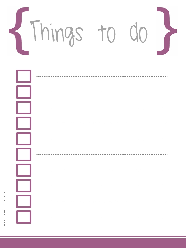 10 WORD To Do List Templates Printable To Do Lists - Microsoft To Do List Template For Word