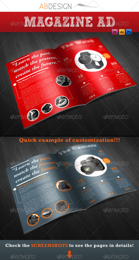 Magazine Product Advertisement - Print Ad Templates
