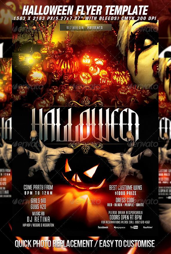 Halloween Flyer Template - Print Ad Templates