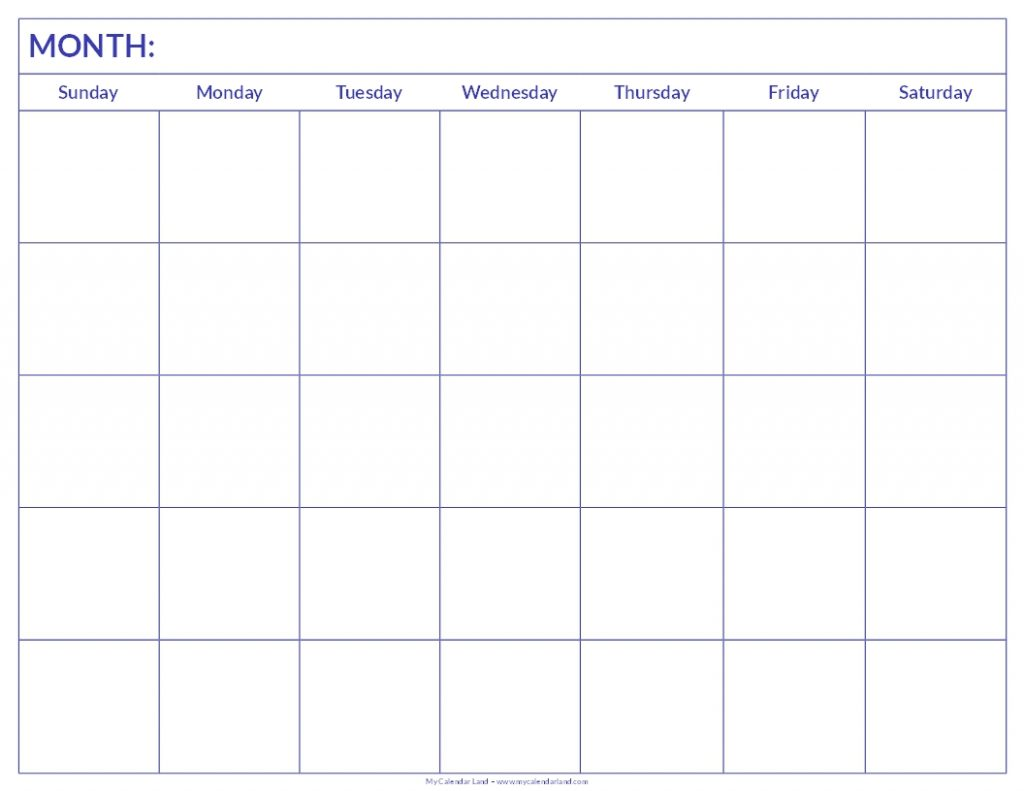 Free Calendars You Can Print Free Printable Calendars Use These All New Blank Calendars Print Blank Calendars