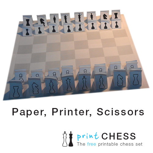 Free Printable Paper Chess Set (3D) - Print Paper Chess