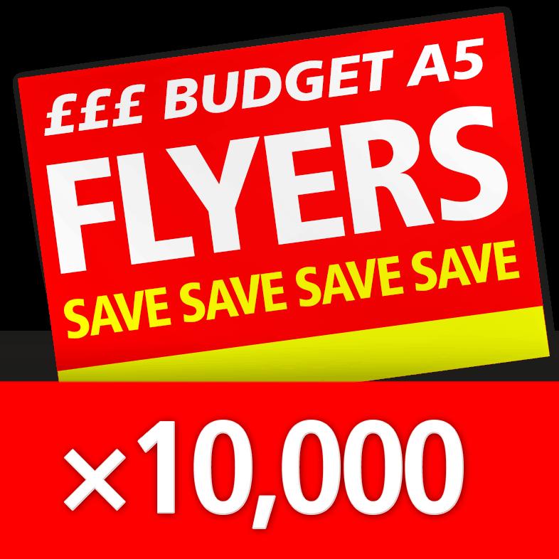 100000 Budget Flyers / Leaflets