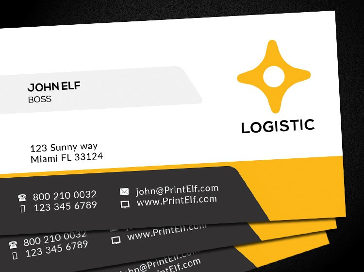 Free business card design Logistic - Corporate - Freelance