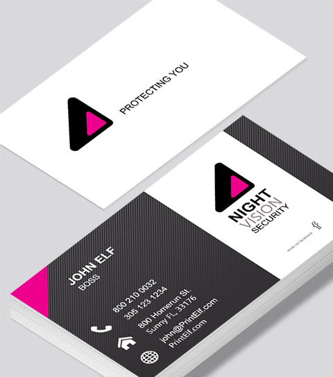 Night Vision Security business card - Modern Design