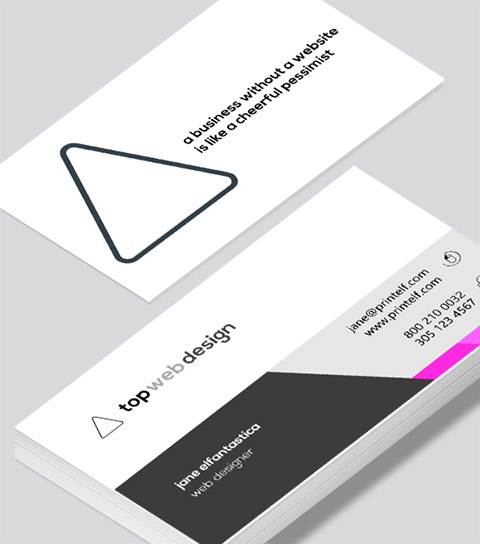 Web Designer business card - Modern Design