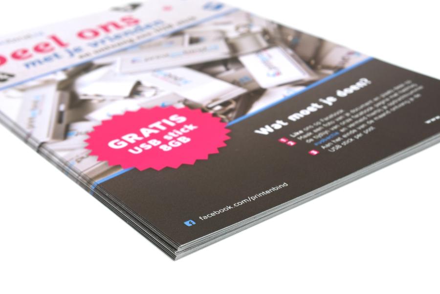 Flyers drukken goedkoop online - Printenbindnl