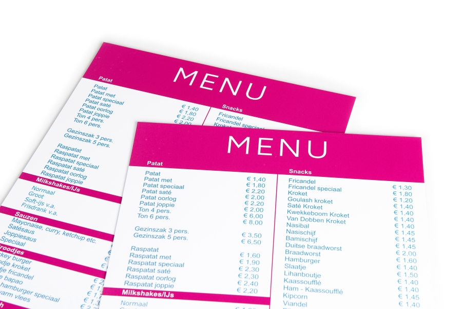 Print your menus online, cheap and quick - Printenbindnl