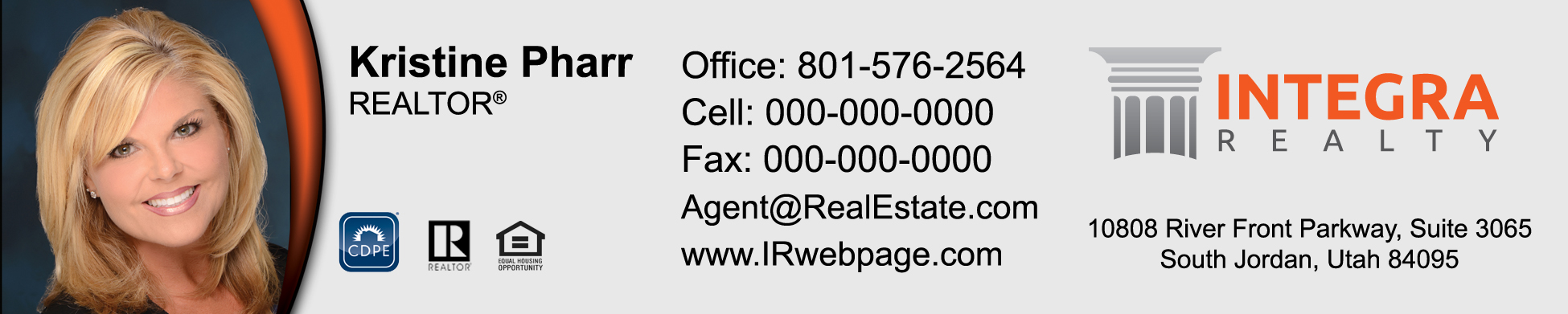 Integra Realty Business Cards - $6999 professionally designed and
