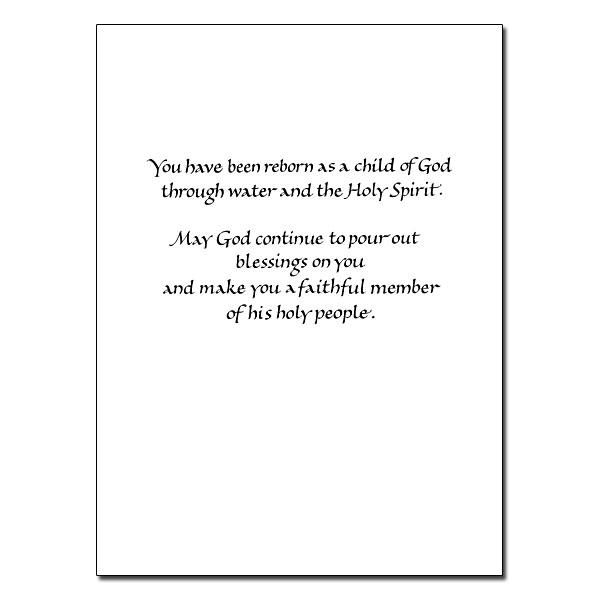 For a Special Granddaughter Granddaughter Baptism Card