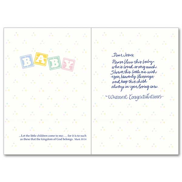 A Prayer for Your New Baby Baby Congratulations Card