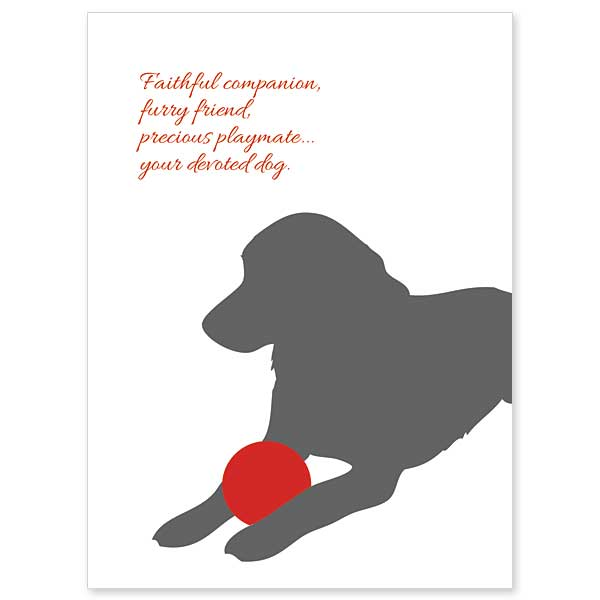 Faithful Companion Loss of Dog Sympathy Card