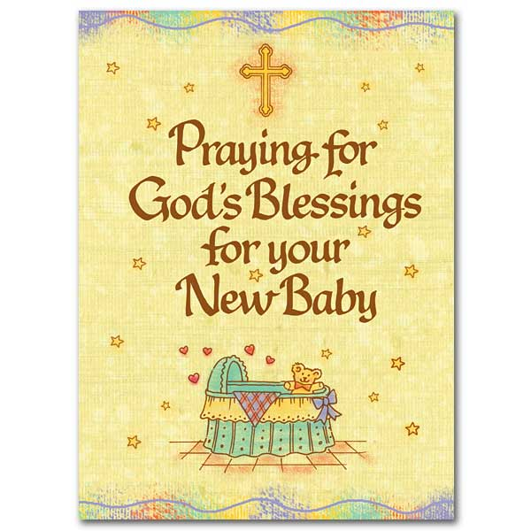 Praying for God\u0027s Blessings for your New Baby Baby Congratulations Card