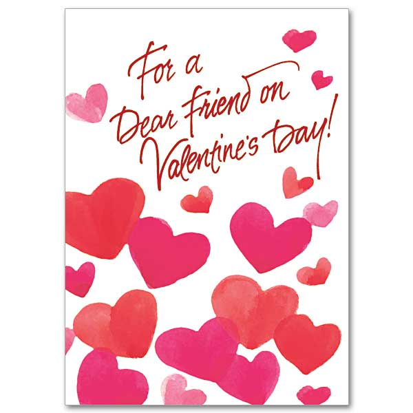 For a Dear Friend on Valentines Day Valentine\u0027s Day Card