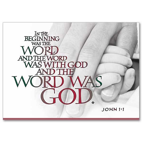 In the Beginning Was the Word Miracle of Christmas Card - christmas card word
