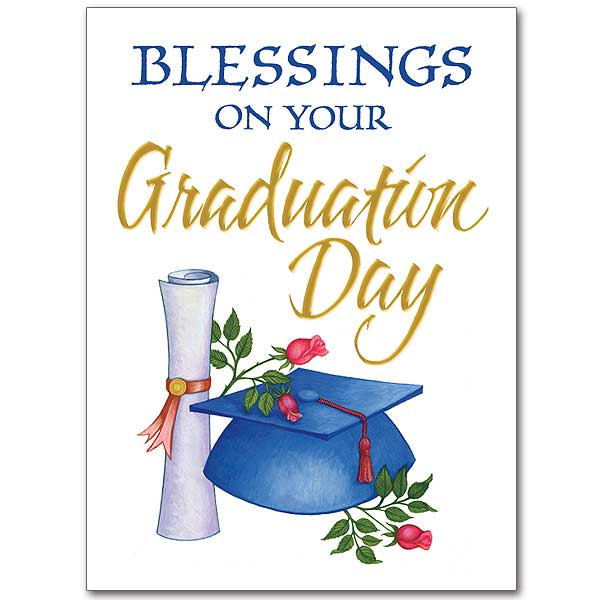 Blessings on Your Graduation Day Graduation Card - congratulations on graduating