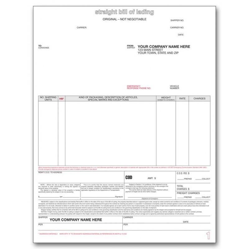 Bill of Lading Laser Form 13651 At Print EZ - blank bol form