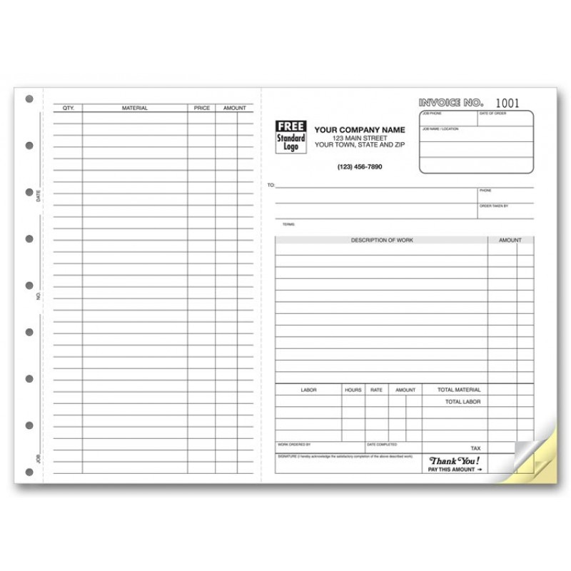 Carbonless Job Invoice Forms 6545 At Print EZ