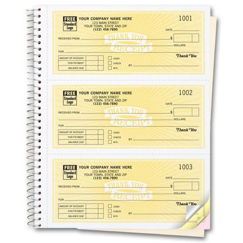 Custom Receipt Books Free Shipping - free receipt book