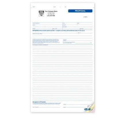General Large Proposal Forms GEN0218 At Print EZ