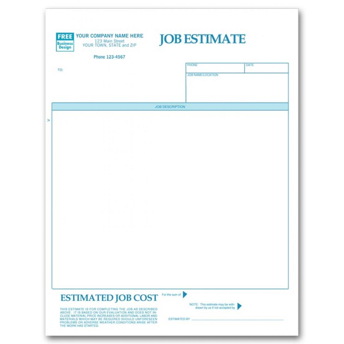 job estimate roy420 tk job estimate 24 04 2017