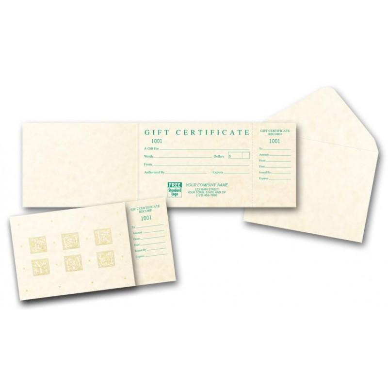 Vellum Gift Certificates 5133 At Print EZ
