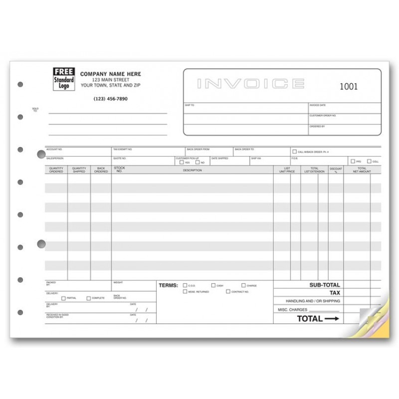 Wholesale Invoice Forms Free Shipping