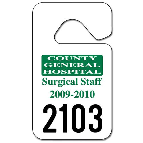 Parking Permit Hang Tags, 2-3/4\