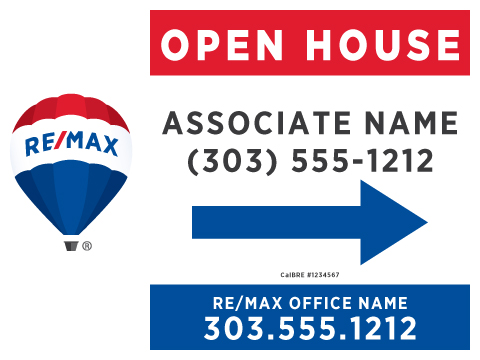 Printing Connection · RE/MAX Open House Signs - house for sale sign template