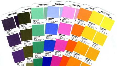 Pantone Color and Spot Color Inks in Printing - sample pms color chart