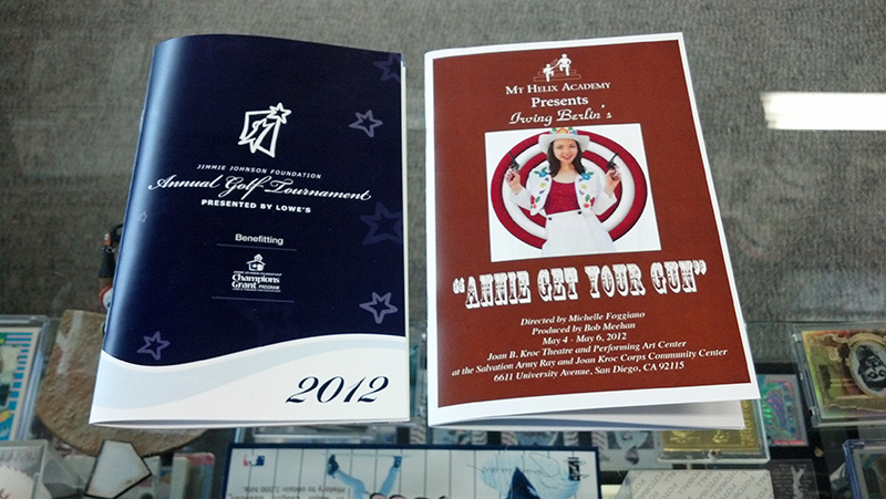 Event Program Printing in San Diego  Printing on 5th Avenue - Event Program
