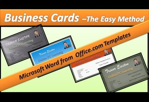 How to Make a Business Card with Microsoft Word - Online Printing
