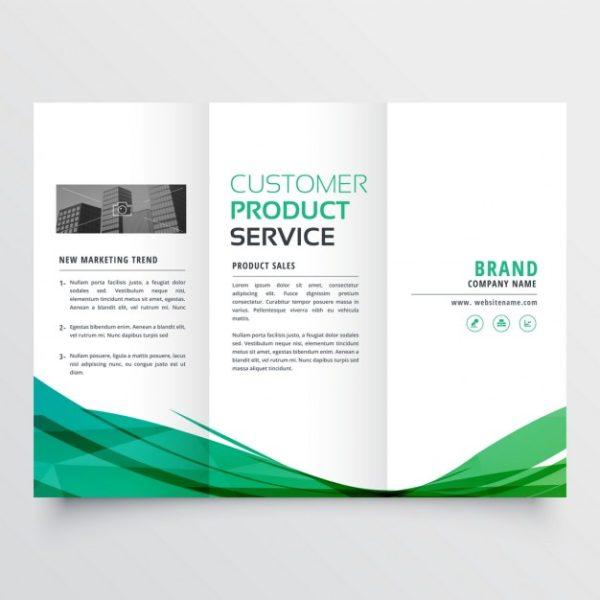 Brochure Printing Cheap Custom Printed Bi-Fold  Tri-Fold Brochures