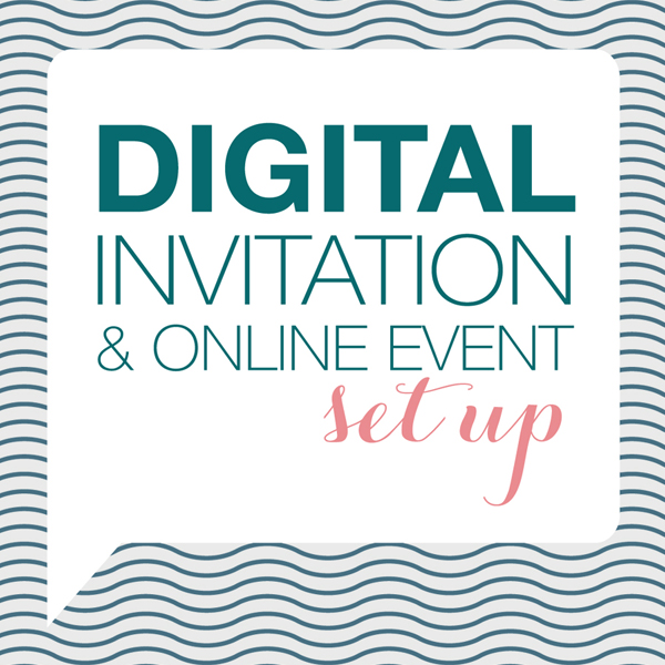 Digital Invitation  Online Event Set Up
