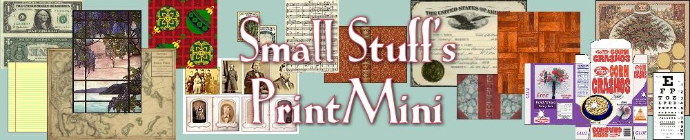 Small Stuff\u0027s PrintMini Printable Dollhouse Miniatures  Printies