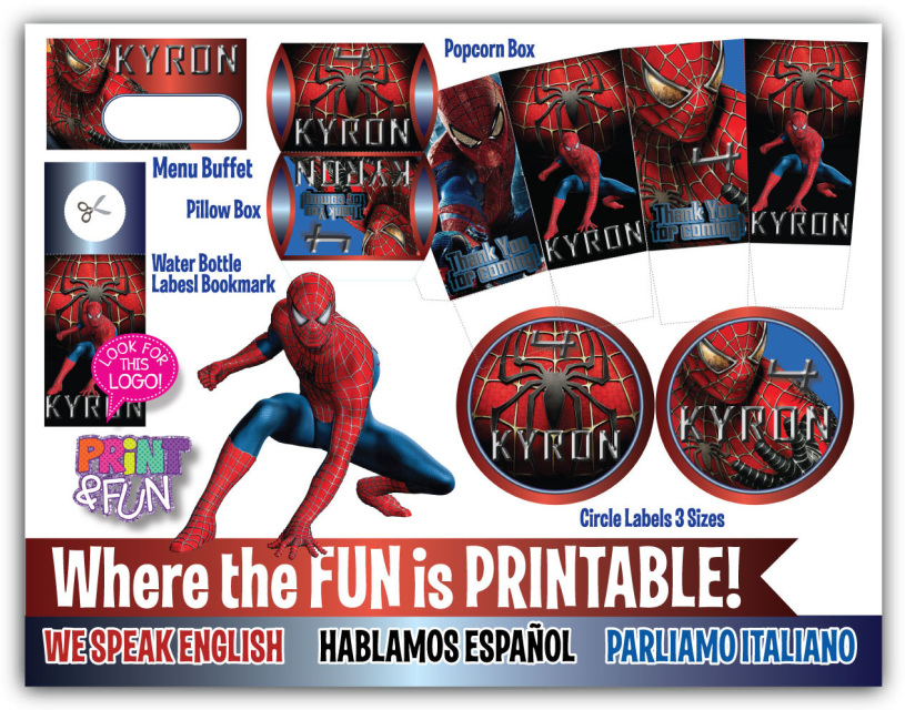 Spiderman Party Printables Package