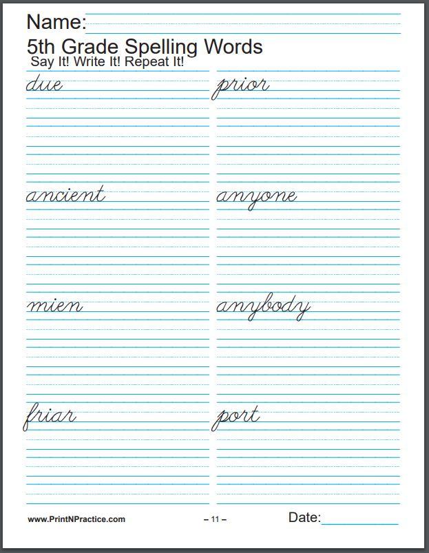 672 Printable Spelling Worksheets ⭐ Buy K-6 In One Bundle