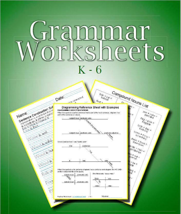 Printable Grammar Worksheets ⭐ Practice Easy English Grammar Lessons