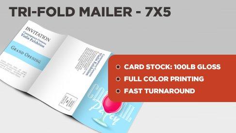 Tri-Fold Direct Mail Postcard - 7x15 to 7x5 - PrintPapa - tri fold mailer template