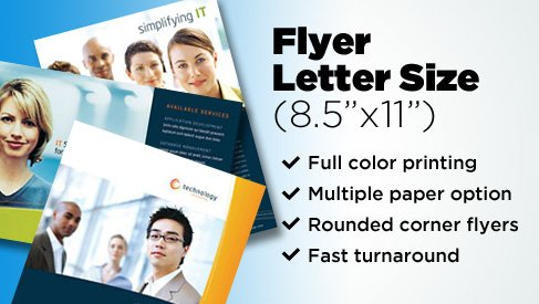 Full Color Letter Size Flyer (85x11) Printing, Bay Area, San Jose - how to write a flyer