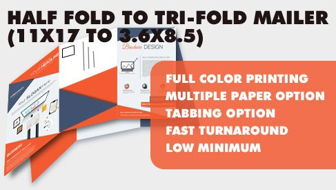 4 Page Half/Tri-fold Tabbed Mailer (11x17 to 11x85 to 36x85 - tri fold mailer template