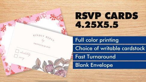 RSVP Card - 425x55 - RSVP Cards - PrintPapa