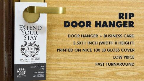 Rip Door hanger - 35x11 - Rip Cards - PrintPapa