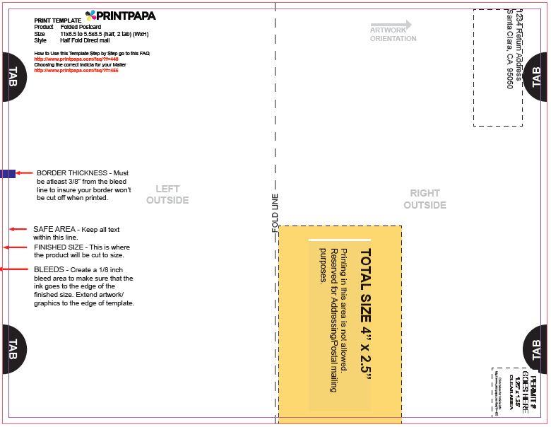 Find a Printing Template  Printpapa