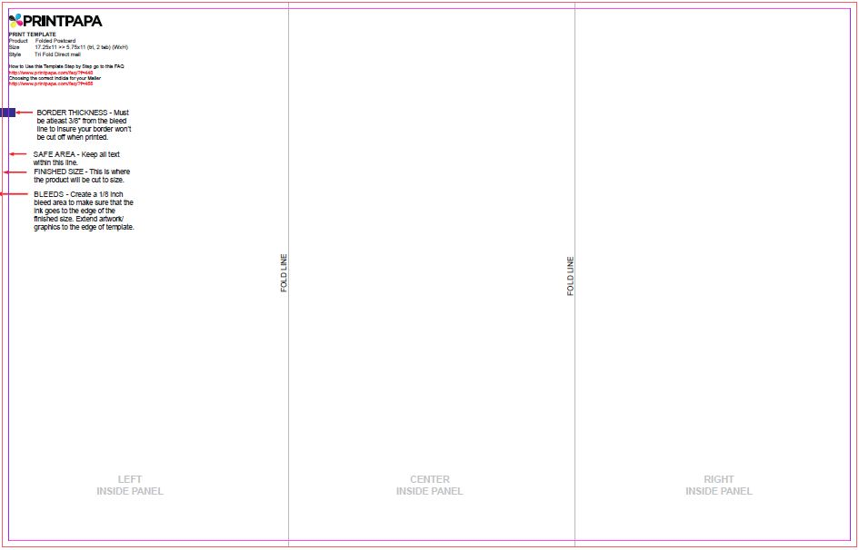 contact us self mailer folds to 85x11 pin presort_consistent - tri fold mailer template