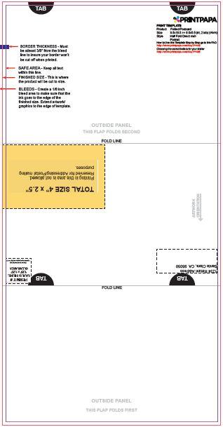 tri fold mailers