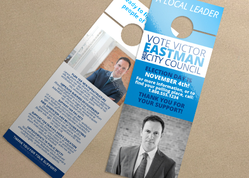 Door Hanger - Sans Serif ID#6818 PrintPlace - door hanger design template